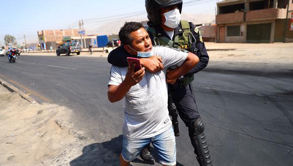 El ministro del Interior pidió a los transportistas que no obstruyan las vías nacionales porque serán detenidos por la Policía y luego denunciados ante la autoridad (Foto: Hugo Curotto/GEC)