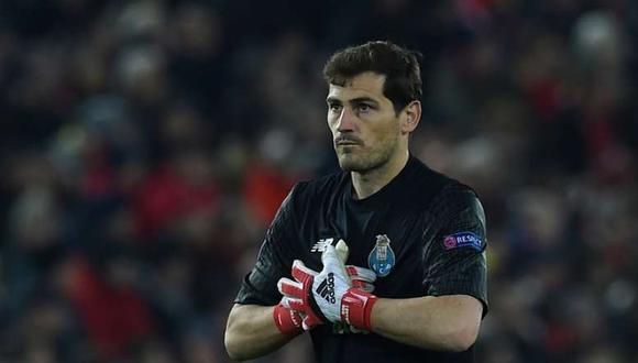 Iker Casillas, sin despedida con el Porto. (Foto: AFP)