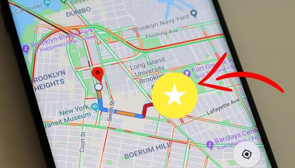 ¿Por qué ves en el mapa un círculo amarillo con una estrella blanca? Conoce qué significa en Google Maps. (Foto: Google)