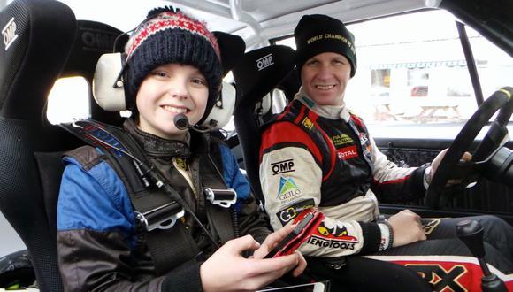 Hijo de leyenda debutará en el rallycross con solo 15 años