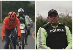 La historia del policía que ha acompañado al campeón olímpico ecuatoriano a entrenar por 4 años