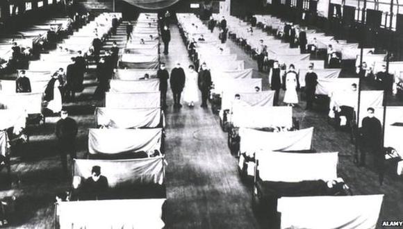Los edificios públicos se convirtieron en hospitales para poder atender a los enfermos. (Foto: ALAMY)