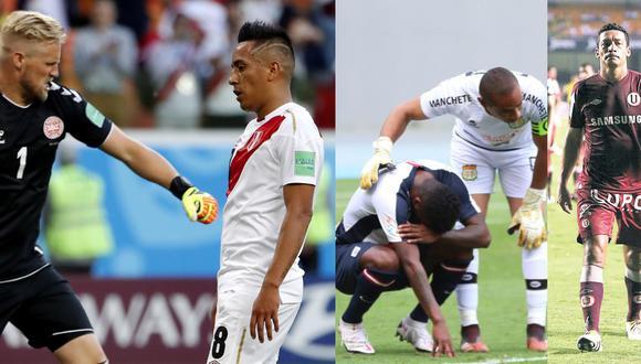 Cueva en el Mundial, Ascues en el descenso de Alianza y Galván en la Copa Libertadores 2010. (Fotos: EFE / Liga 1 / Germán Falcón)