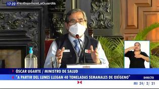 """Ministro de Salud: """"A partir del lunes están llegando las importaciones de oxígeno desde Chile"""""""