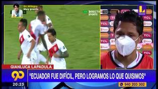"Gianluca Lapadula tras empate ante Ecuador: ""Fue un partido muy difícil"""