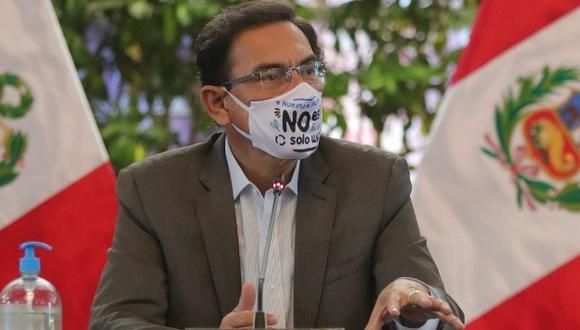 Presidente Vizcarra cuestionó moción de vacancia en su contra. Temprano participó en campaña que busca incentivar el uso de mascarillas reutilizables y empaques biodegradables (Foto: Presidencia)