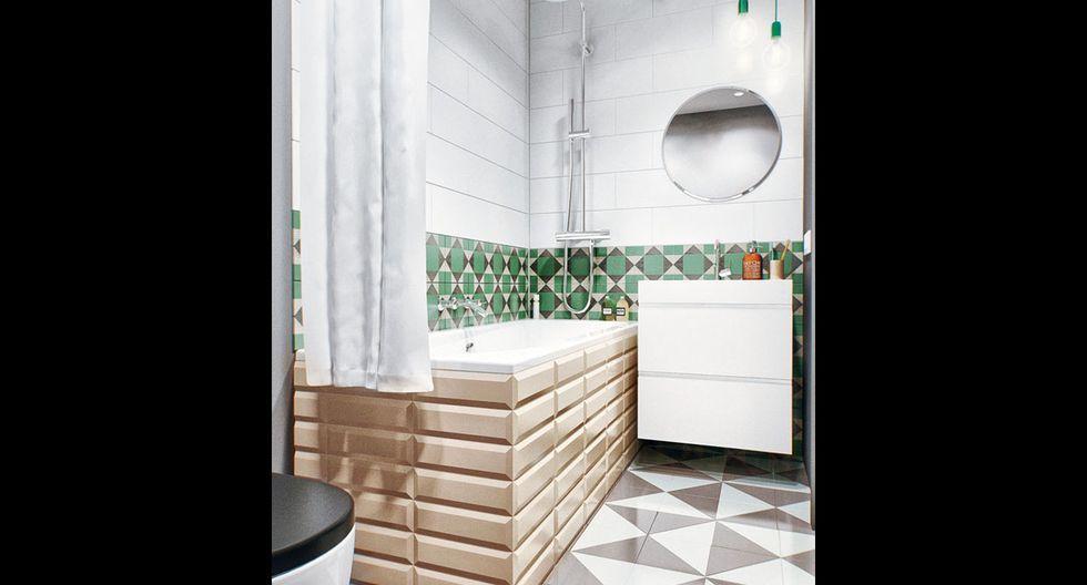 A la pared se le dio color con pintura imantada para poder colocar los especieros de metal. (Foto: INT 2 Architecture)