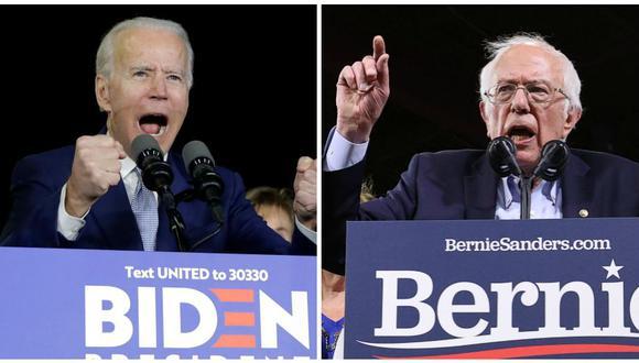 Joe Biden gana en al menos siete estados y Bernie Sanders vence en California, el premio mayor del Supermartes. (Foto: AP / Reuters)