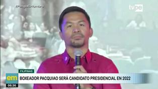 Boxeador Many Pacquiao anuncia su candidatura presidencial y promete crear mega cárcel para corruptos