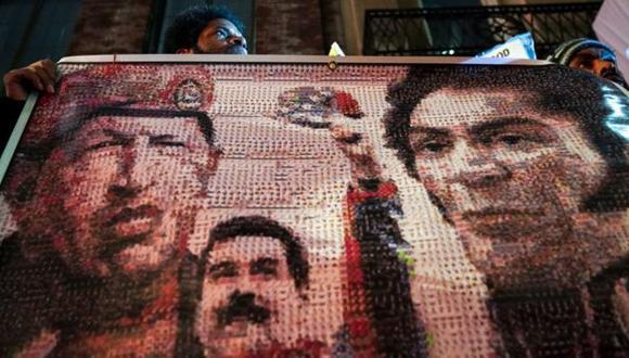 En Estados Unidos hay protestas a favor del gobierno de Nicolás Maduro.