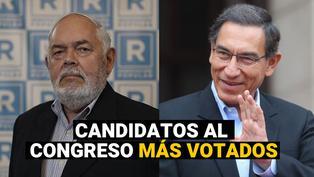 Elecciones 2021: Martín Vizcarra y los candidatos al congreso más votados, según la ONPE