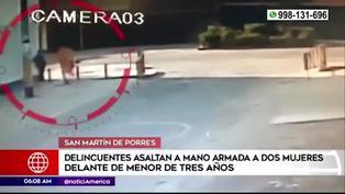 SMP: malhechores asaltan a dos mujeres que iban con una menor de 3 años