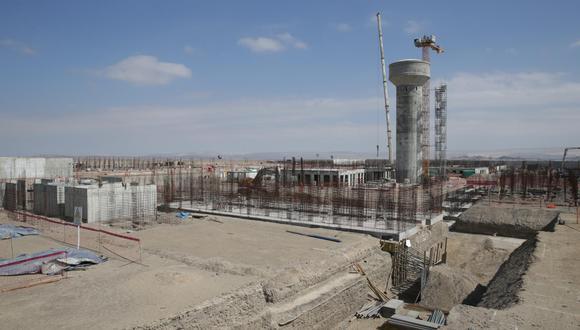 Así lucía el avance de la construcción del mega penal de Ica en julio del 2019. (Foto: Alonso Chero)