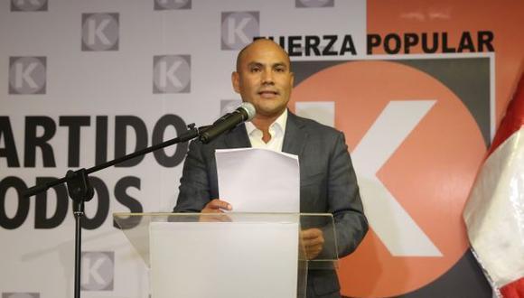 oaquín Ramírez militó en Fuerza Popular del 2010 al 2016, llegando a ser secretario general. (Foto: El Comercio)