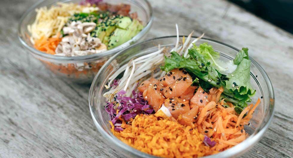 Maikai Poke Perú, Miraflores. Ofrece diferentes opciones de poke bowl. Pide el de lechuga, zanahoria, palta, quinua, garbanzo y hummus.(Foto: Difusión)