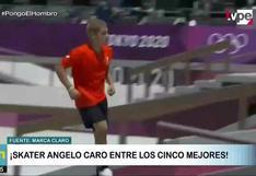 Tokio 2020: skater Angelo Caro entre los cinco mejores de su disciplina