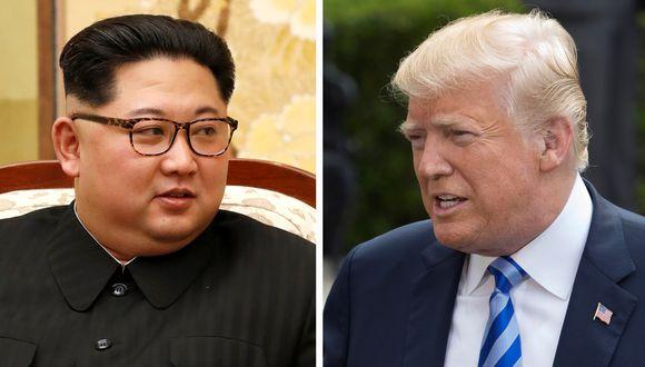 El presidente de Corea del Norte, Kim Jong-un y el de los Estados Unidos, Donald Trump. (Foto: EFE)