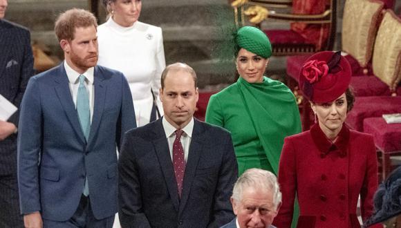La última vez que Meghan de Sussex compartió con la familia real británica fue en marzo de 2020. (Foto: Phil Harris / AFP)