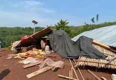 Fuertes vientos dejaron 54 casas inhabitables en distritos de las regiones San Martín y Huánuco | FOTOS
