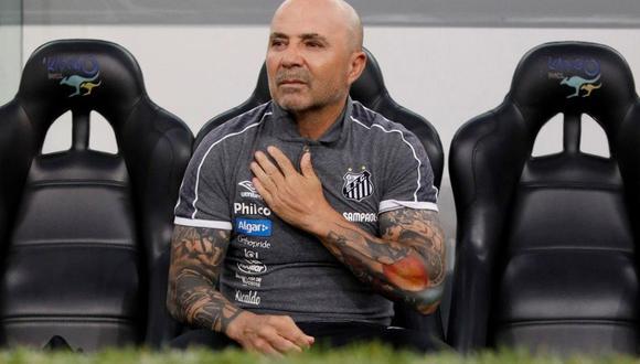 Santos anuncia la salida del técnico argentino Jorge Sampaoli. (Foto: Twitter)