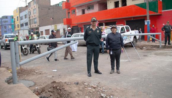 Durante la operación se desplegó 15 serenos, y se contó con el apoyo de vecinos y comerciantes formales. (Foto: Difusión)