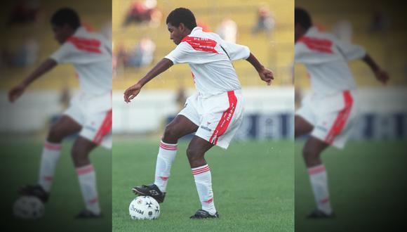 Luis Cordero, una de las figuras jóvenes del fútbol peruano de la segunda parte de los 90, cuando participó en el Sudamericano Sub 20 de 1999.