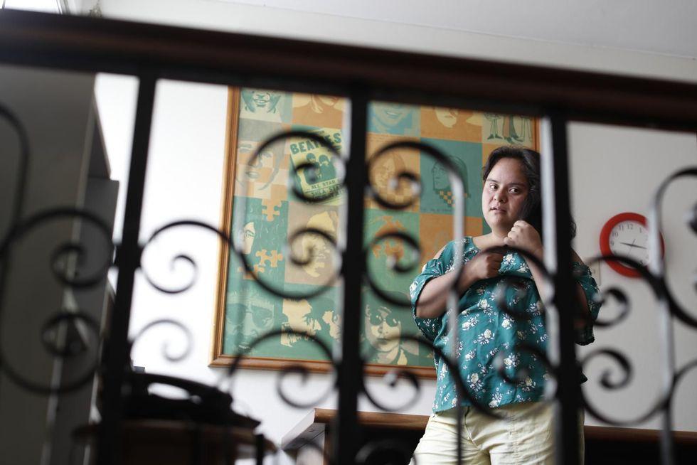Carla es una mujer a la que le encanta la política, porque cree que hay cosas que deben cambiar en Lima para hacerla más inclusiva. (César Campos / El Comercio)