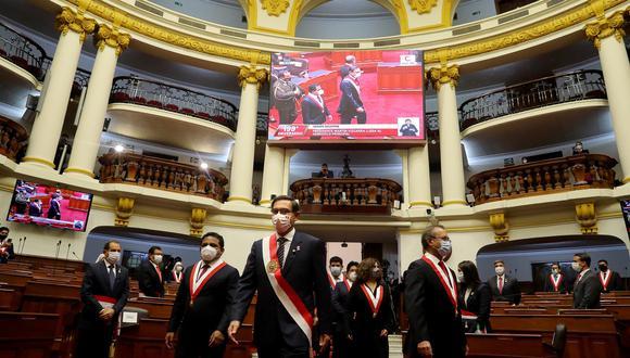 El presidente Martín Vizcarra ofreció este martes su último mensaje a la Nación por Fiestas Patrias. Su discurso duró 1 hora con 55 minutos. Un poco más de la mitad de este estuvo enfocado en las medidas para frenar la pandemia de COVID-19. (Foto: Presidencia de la República)