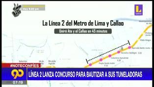 Metro de Lima: lanzan concurso para elegir nombres de tuneladoras de la Línea 2