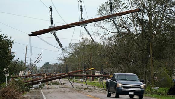 Estragos del paso del huracán Laura por Louisiana este 27 de agosto. (Foto: Reuters)