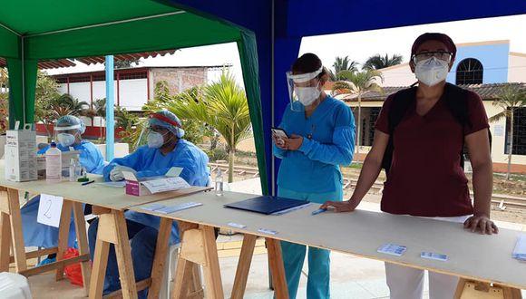 Tumbes: realizaron 45 pruebas rápidas en el distrito de San Juan de la Virgen (Foto difusión)