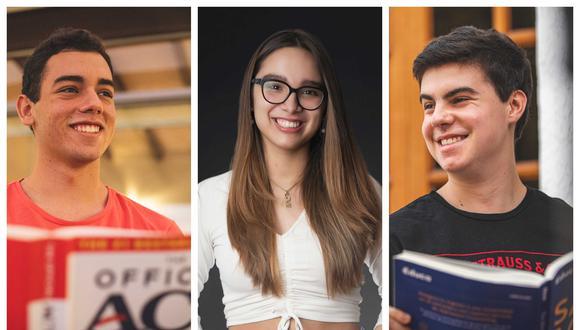 Gabriel de Romaña, Rebeca Alarcón y Marco Navarro, jóvenes peruanos que han ingresado a algunas de las mejores universidades del mundo. (Fotos: Sanyin Wu)