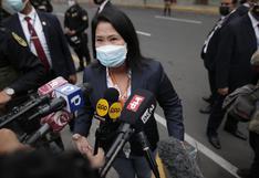 """Keiko Fujimori: """"Lo que el fiscal pretende es que me quede sola en un momento tan trascendente para la defensa de nuestros votos"""""""