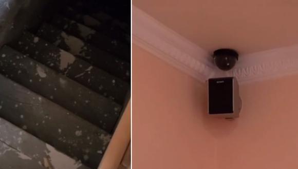 Una mujer no podía creer que en su nuevo hogar encontraría un sótano y varias cámaras de seguridad. (Foto: @vtmegs / TikTok)