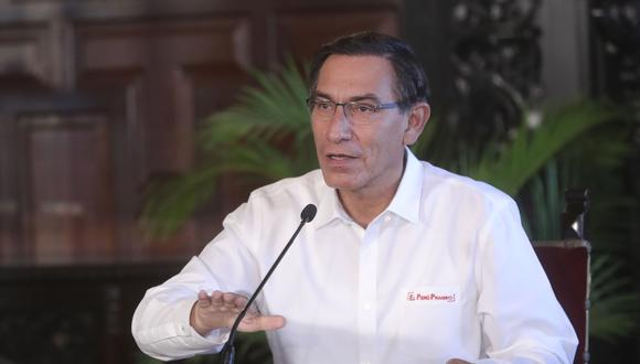 El presidente Martin Vizcarra, anunció que  someterá a referéndum la eliminación de la inmunidad parlamentaria. (Foto: Peruvian Presidency / AFP)