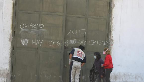 En este local, ubicado frente al Cuartel Barbones, en la Av. Grau, antes se recargaban balones de oxígeno. Ahora venden tanques de 10 m3  vacíos a S/3.600. (Foto: Giancarlo Ávila/GEC)