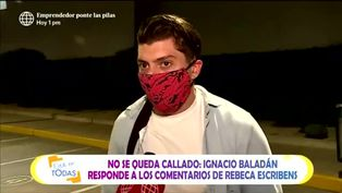 Ignacio Baladán responde a polémico comentario de Rebeca Escribens