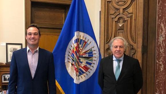 Secretario general de la OEA, Luis Almagro, se reunió con George Forsyh, precandidato presidencial (Foto: Difusión)