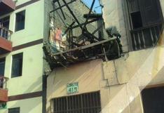 Rímac: balcón sin mantenimiento se desplomó en la vereda