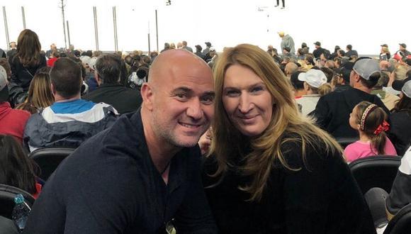Andre y Steffi suelen disfrutar de los partidos de hockey sobre hielo. (Foto: @AndreAgassi)