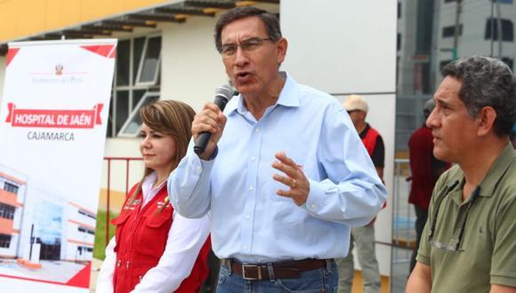 En Cajamarca, el presidente Martín Vizcarra se pronunció sobre la destitución de Hugo Coya de IRTP (Foto: Alessandro Currarino)