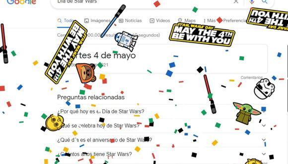 Esto es lo que pasa en Google si buscas algo relacionado a Star Wars. (Foto: Google)
