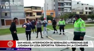 San Miguel: jóvenes insultan a sereno que les pidió retirarse de losa deportiva