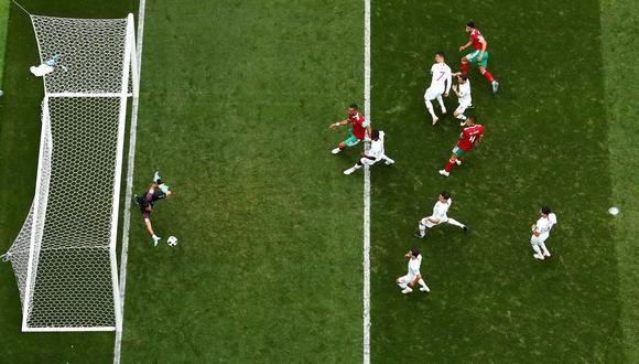 Portugal cedió la iniciativa a la selección de Marruecos y necesitó de una genial intervención del golero Rui Patricio para mantener la ventaja parcial. (Foto: Reuters)