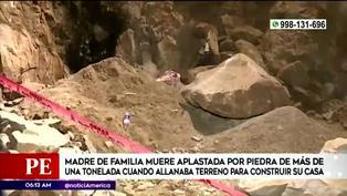 SJL: mujer muere tras ser aplastada por una roca de más de una tonelada