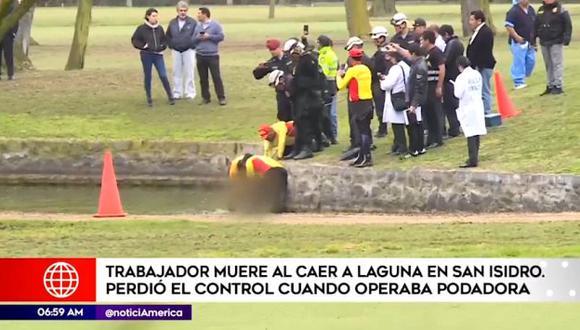 Lima Golf Club de San Isidro emitió un comunicado y lamentó el deceso de su trabajador.(América Noticias)