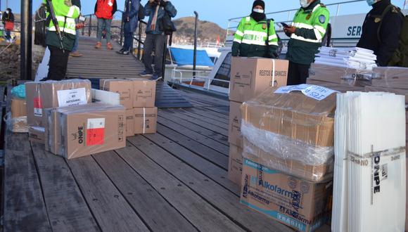 El material fue trasladado desde el viernes a Puno. (Foto: Carlos Fernández)