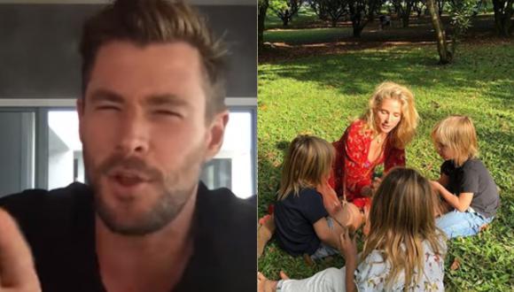 Chris Hemsworth confiesa que ser profesor de sus hijos en casa no le resulta nada fácil (Foto: Instagram)