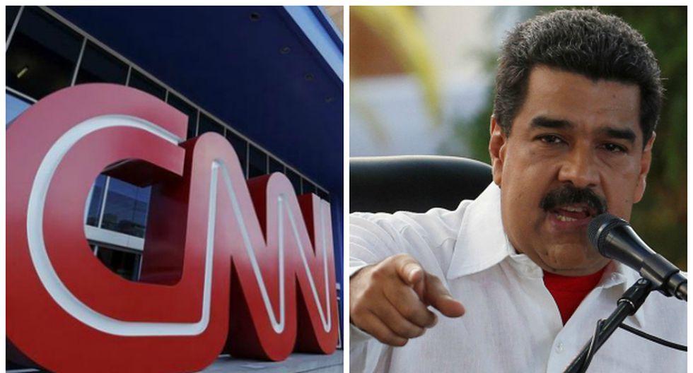 """Maduro anuncia que quiere a la CNN """"fuera de Venezuela"""""""