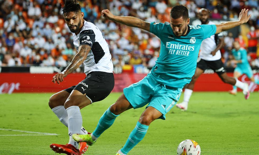 Real Madrid y Valencia chocaron en el Mestalla por la jornada 5 de LaLiga Santander.   Foto: AFP